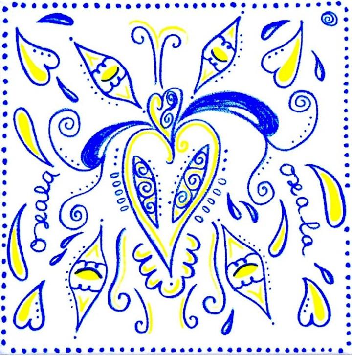Oxalá, 20x20x4, tinta da china sobre tela